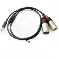 Cable 2xlr/M-mini plug st 0.9mt Rean