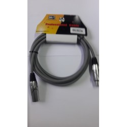 CABLE DMX GRIS SVPRO 3 MTS CONECTOR METALICO 3P