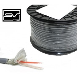 CABLE DMX 512 GRIS 110OHMS OD6.5MM ROLLO/100MTR. SVPro
