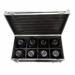 KIT 8 X RGBW LED PAR KING 54x3W + FLIGHT CASE Big Dipper
